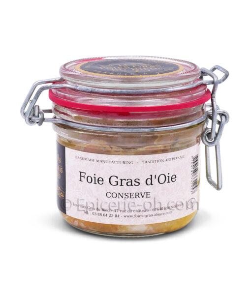 Conserve foie gras oie