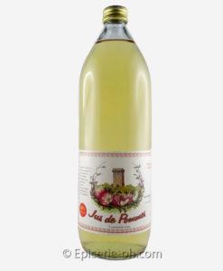 Un vrai jus de pomme Sans additif et conservateur, produit et transformé au même endroit, ce jus de pomme est un vrai produit d'artisan!