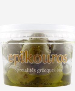 Olives vertes de Grèce farcies aux poivrons 100% bio
