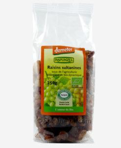 Raisins secs bio de Turquie à déguster et grignoter tout au long de la journée
