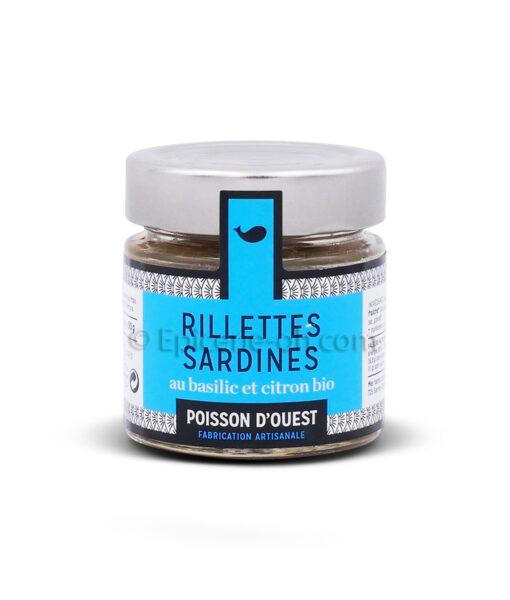 Rillettes de sardines au basilic et citron