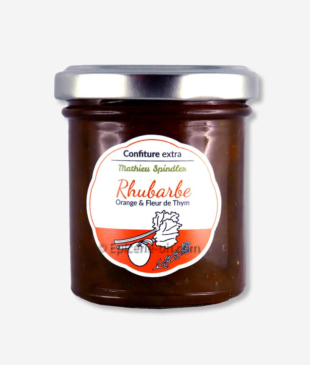 Que Faire Des Fleurs De Rhubarbe confiture rhubarbe orange thym